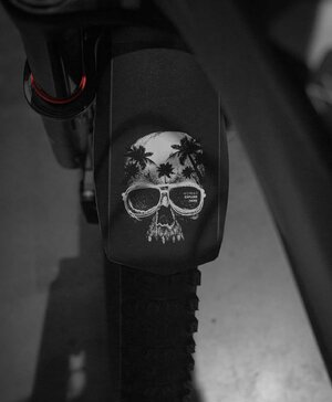 Paralama Bike MTB Dianteiro Skull