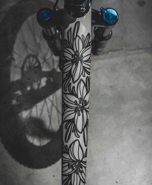 Adesivo de proteção Top/Down Tube Flor