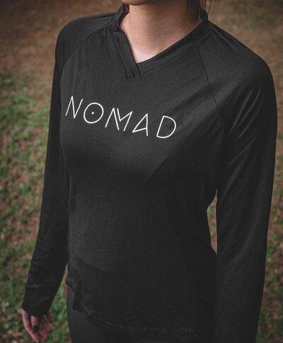 Camisa Naked Preta Feminina - Manga Longa