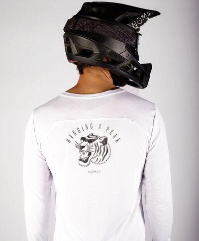 Camisa Naked Branca Tiger Manga Longa