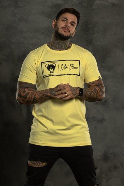 Camiseta Brand Box - Amarelo