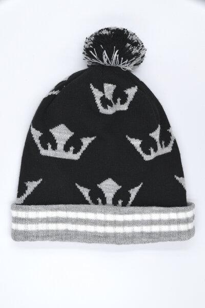 Touca Pompom Crown