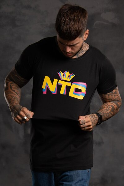 Camiseta Three Collors - Preto