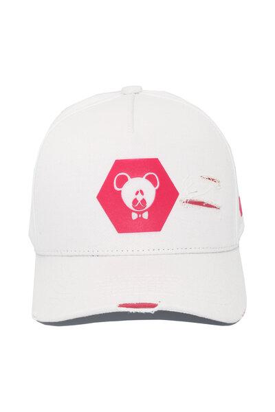 Boné Hexagon Pink - Branco