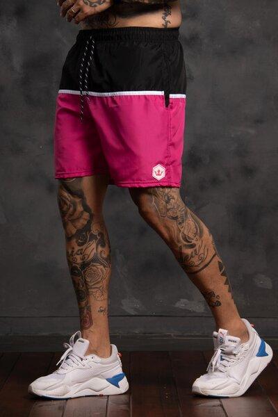 Shorts Strip Collor - Rosa