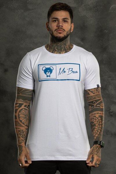 Camiseta Brand Box - Branca com Azul