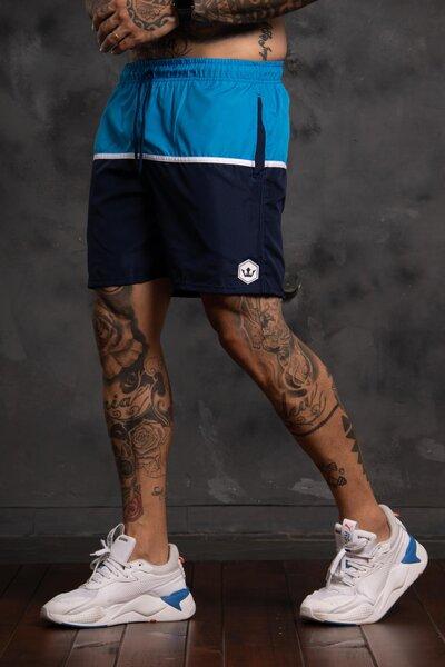 Shorts Strip Collor - Azul Marinho