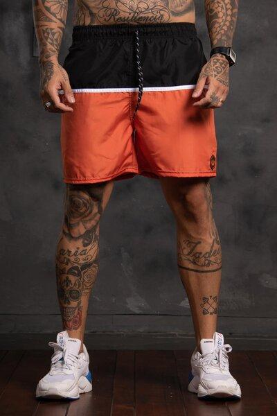 Shorts Strip Collor - Laranja