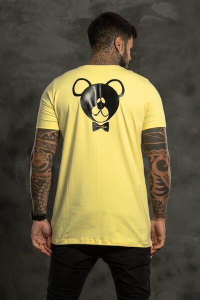 Camiseta Shoulder Writing Yellow