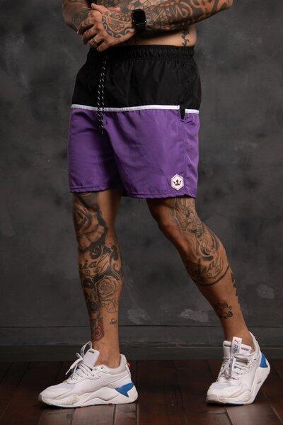 Shorts Strip Collor - Roxo