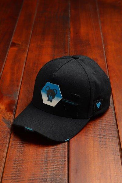 Boné Hexagon Blue - Preto