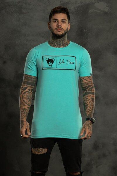 Camiseta Brand Box - Verde Agua