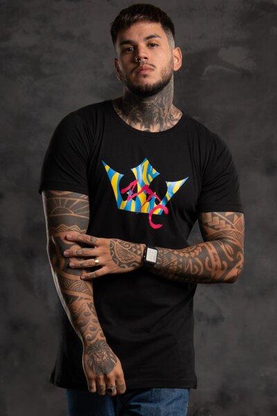 Camiseta Collorfull Onca - Preto