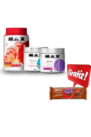 Top whey + BCAA drink + Glutamina