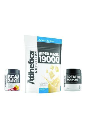 HIPER MASS 19000 ATLHETICA 3,2Kg + Creatine 100% Pure 50g + BCAA 2:1:1 50g