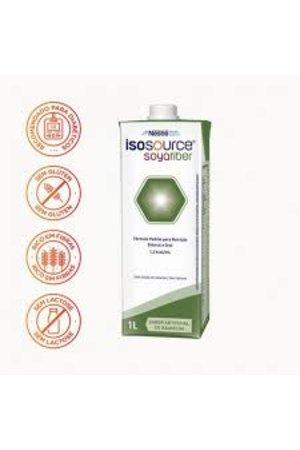 Caixa Isosource Soya Fiber 1l - Nestlé - 12 Unidades