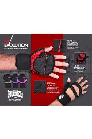 Luva Musculação Rudel Flex Air C/ Munhequeira