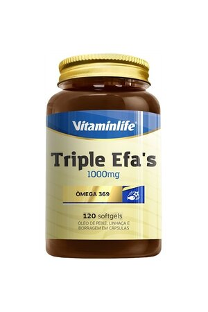 Triple Efa's (Ômega 369) 120 Caps - Vitaminlife