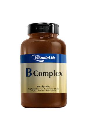B Complex Vitaminas Complexo B - 90 Cápsulas - VitaminLife