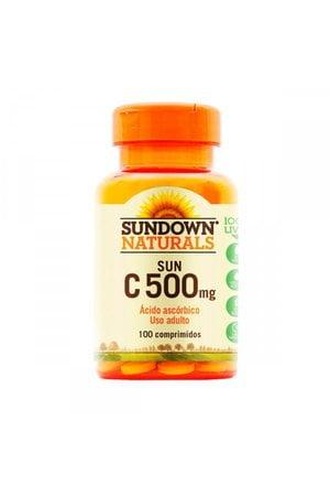 Vitamina C SUN C 500mg 100 Comprimidos Sundown Naturals