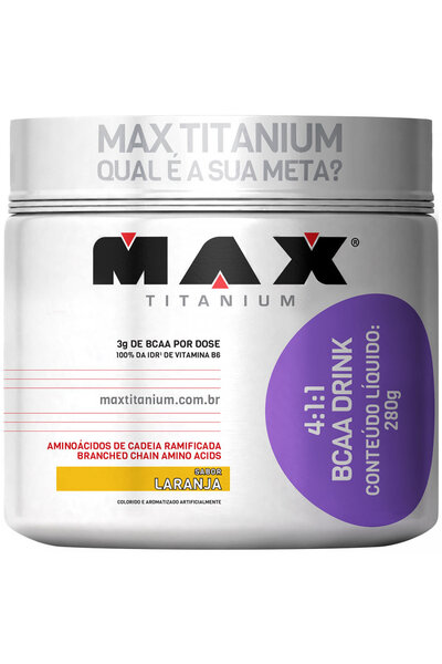 4:1:1 Bcaa Drink - 280 Gramas - Max Titanium