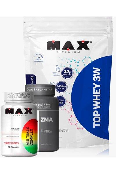 Combo Max - Multimax Complex 90caps + ZMA 90 caps + Refil Top Whey 3W 1.8kg