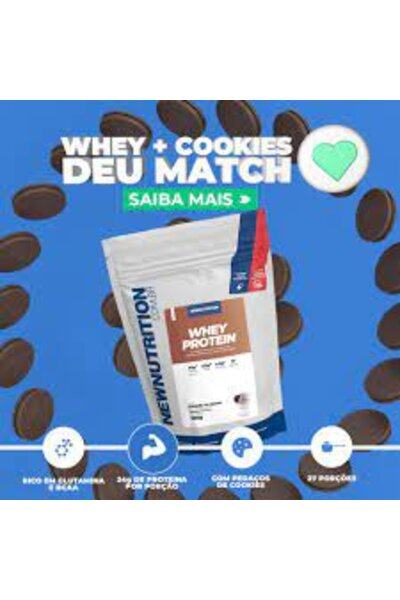 WHEY PROTEIN NEW NUTRITION 900G COOKIESN CREAM