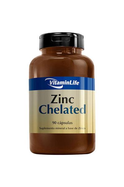 Zinc Chelated VitaminLife - 90 Cápsulas