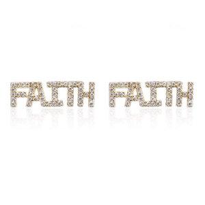 Brinco Ear Cuff Faith (Fé) Prata 925