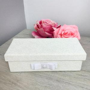 Caixa Montada Floral Nude com Anjo - 8,0 x 18,0