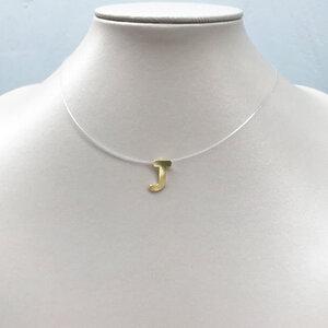 Colar Fio de Nylon Letra Ouro