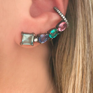 Ear Cuff Colors com Piercing