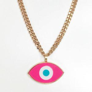 Colar Olho Grego Pink