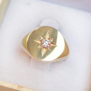 Anel Dedinho Estrela Prata 925