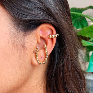 Ear Hook Curve Bolinhas