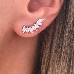 Ear Cuff Navetes Prata 925