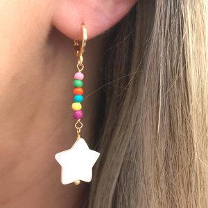 Argola Estrela Madrepérola