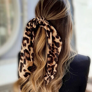 Scrunchie Longo Animal Print