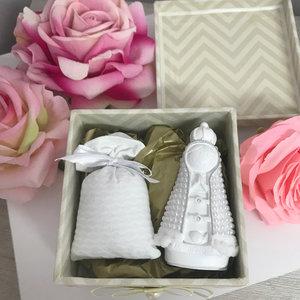 Caixa Montada Nude com N.Sra.Baby e Almofadinha - 11,5 x 11,5