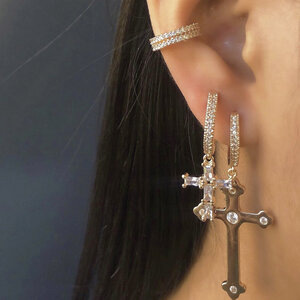 Argola Crucifixo Luxo