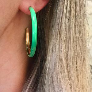 Argola G Verde Neon