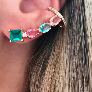 Ear Cuff Candy Rainbow