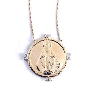 Colar Medalha Grande Nsra. Milagrosa Segundo Sol