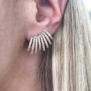 Ear Cuff Aros Zircônias