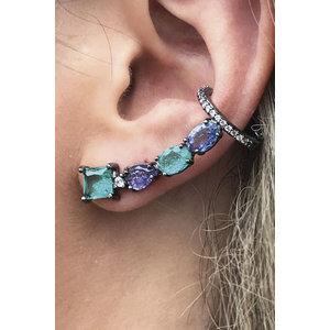 Brinco Ear Cuff Pedras Luxo