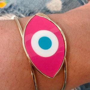 Bracelete Olho Grego Pink