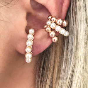 Ear Hook Seis Pérolas