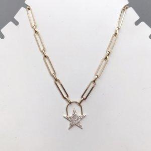 Colar Estrela Brilhante Prata 925
