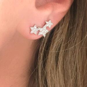 Ear Cuff Small Stars Prata 925