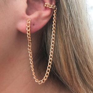 Ear Hook Fio Corrente e Piercing